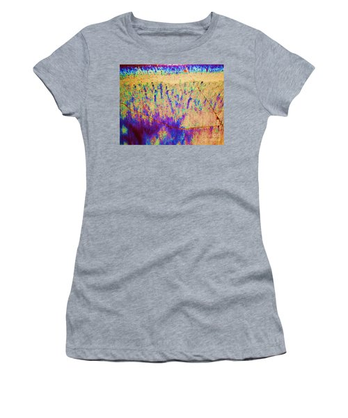 Purple Tan Stone Abstract Women's T-Shirt (Junior Cut) by Eric  Schiabor