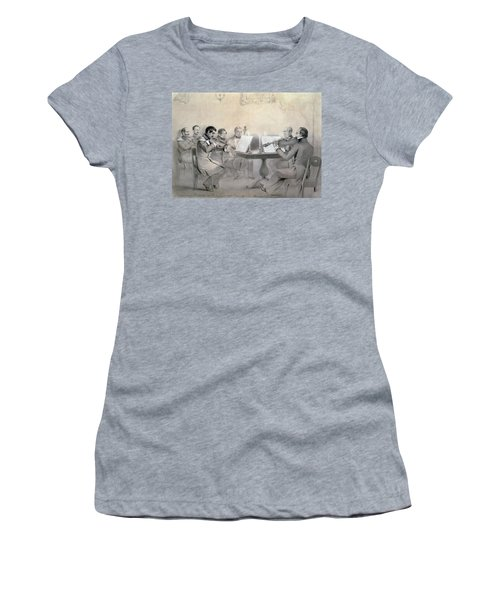 Quartet Of The Composer Count A. F. Lvov, 1840 Pencil On Paper Women's T-Shirt