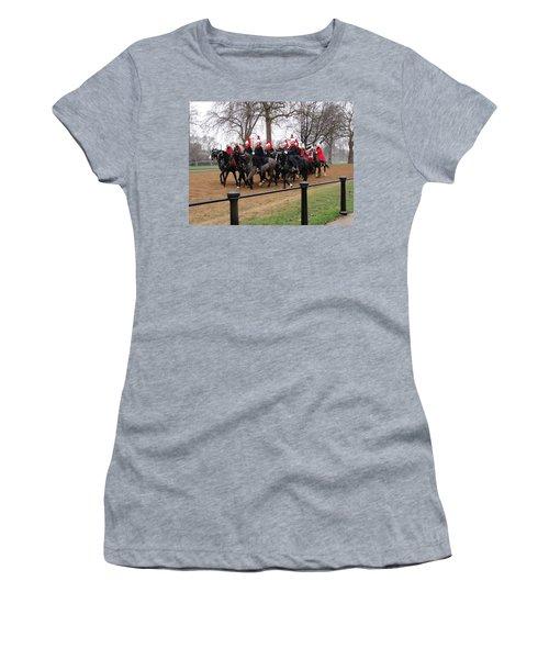 Women's T-Shirt (Junior Cut) featuring the photograph Queen's Guard by Tiffany Erdman