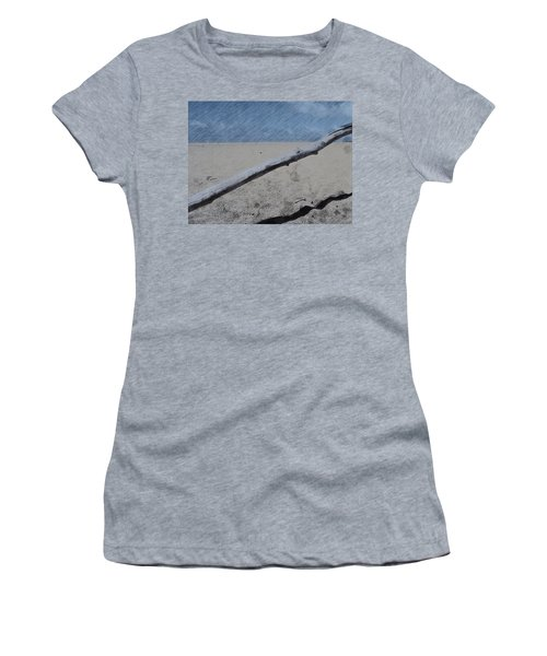 Women's T-Shirt (Junior Cut) featuring the photograph Quiet Beach by Photographic Arts And Design Studio