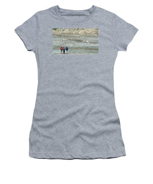 Rafters Exploring The Walker Glacier Women's T-Shirt