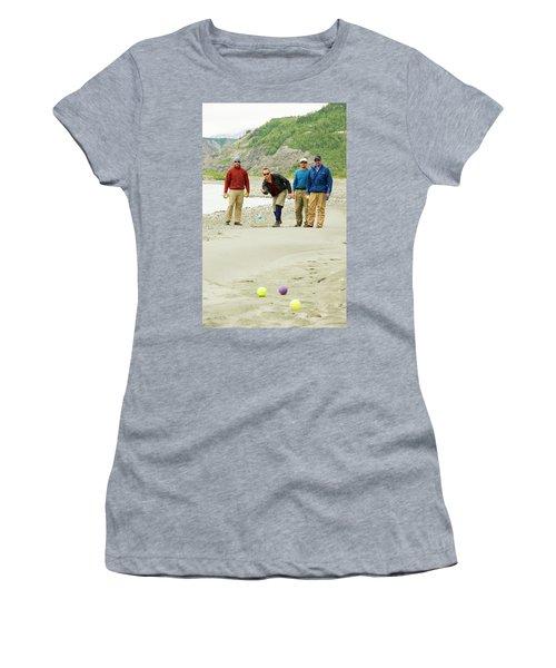 Rafters Playing Bocce Ball On Sandbar Women's T-Shirt