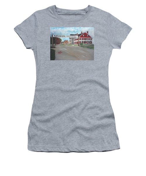 Railroad Crossing Women's T-Shirt (Athletic Fit)