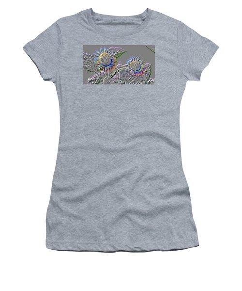 Rainbow Flower Women's T-Shirt (Junior Cut) by Tom Wurl