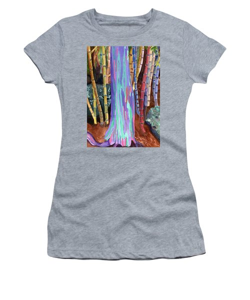 Women's T-Shirt (Junior Cut) featuring the painting Rainbow Tree by Lynne Reichhart