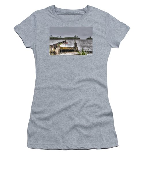 Women's T-Shirt (Junior Cut) featuring the photograph Rained Out by Charlotte Schafer