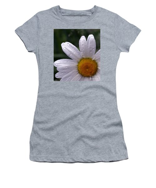 Rainy Day Daisy Women's T-Shirt (Junior Cut) by Kevin Fortier