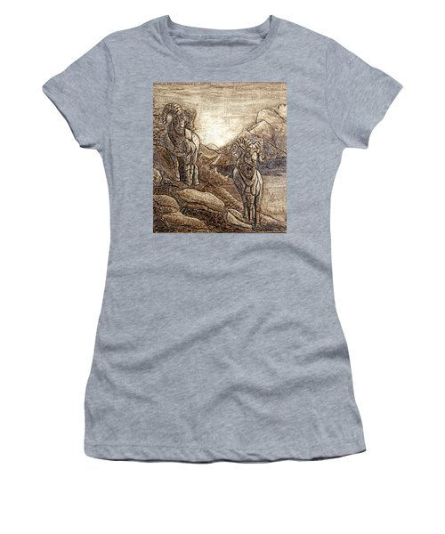 Rams Relief Women's T-Shirt (Junior Cut) by Wendy McKennon