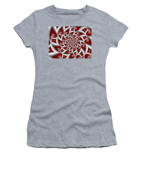 Red An Gray Women's T-Shirt (Junior Cut) by Gabiw Art
