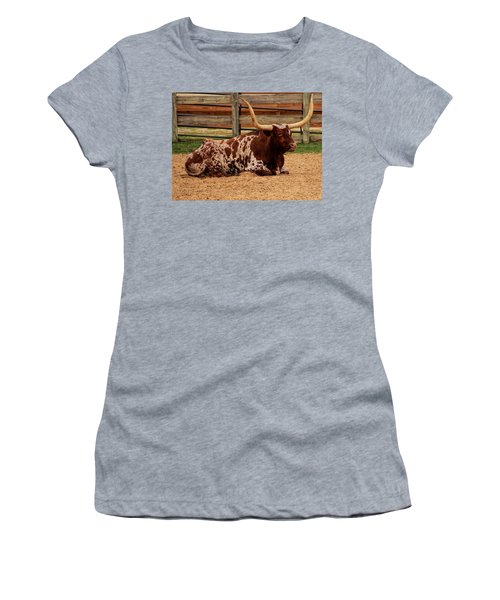 Red And White Texas Longhorn Women's T-Shirt