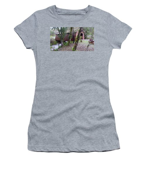 Red Covered Bridge  Women's T-Shirt (Athletic Fit)