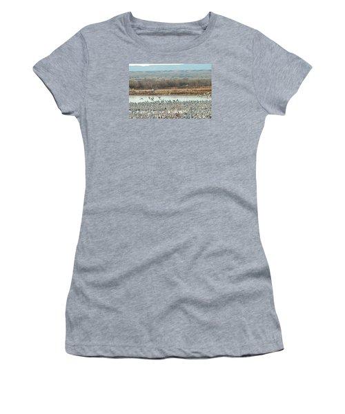 Refuge View 1 Women's T-Shirt (Junior Cut) by James Gay