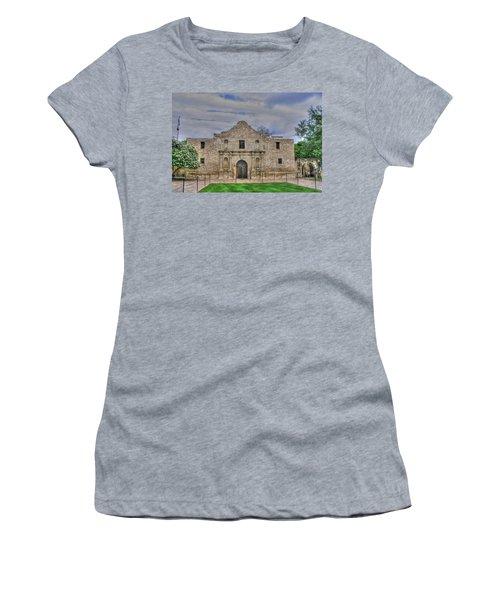 Remember The Alamo Women's T-Shirt (Junior Cut) by Barry Jones
