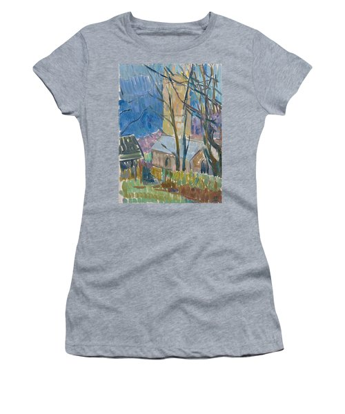 Reverend Hawkers Church At Morwenstow IIi Oil On Canvas Women's T-Shirt