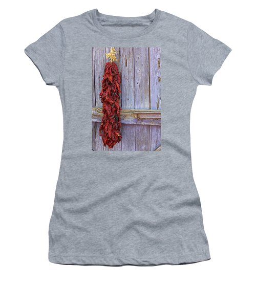 Women's T-Shirt (Junior Cut) featuring the photograph Ristra by Lynn Sprowl