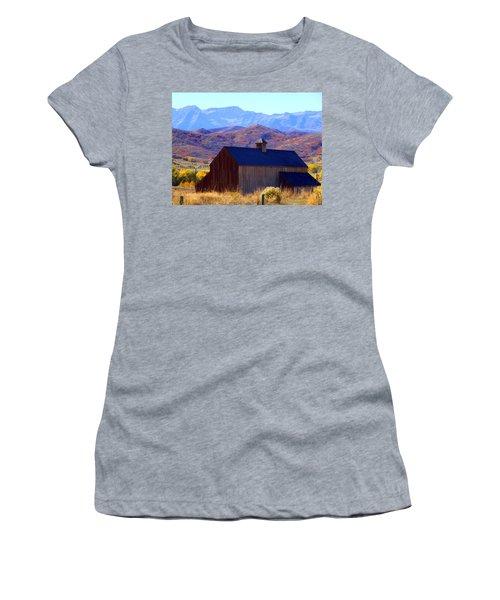 Women's T-Shirt (Junior Cut) featuring the photograph Rocky Mountain Retreat by Jackie Carpenter