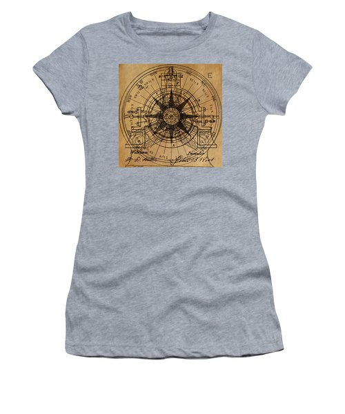 Women's T-Shirt (Junior Cut) featuring the painting Root Patent I by James Christopher Hill