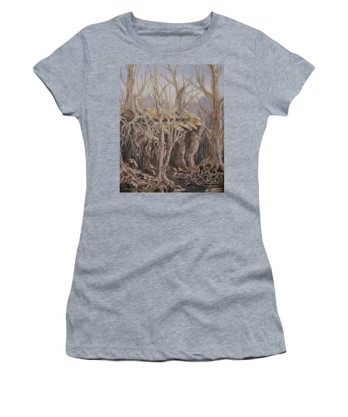 Women's T-Shirt (Junior Cut) featuring the painting Roots by Megan Walsh