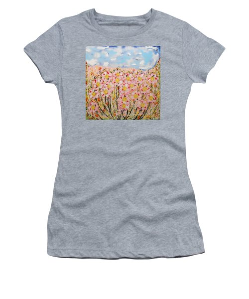 Rosa Ruby Flower Garden Women's T-Shirt (Athletic Fit)