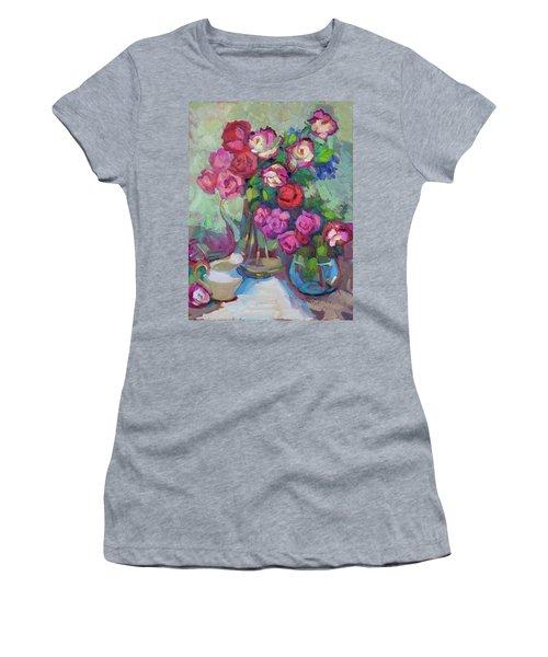 Roses In Two Vases Women's T-Shirt