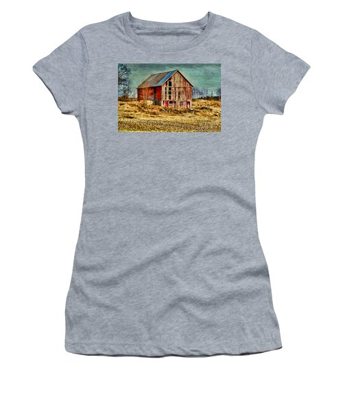 Rural Rustic Vermont Scene Women's T-Shirt (Athletic Fit)