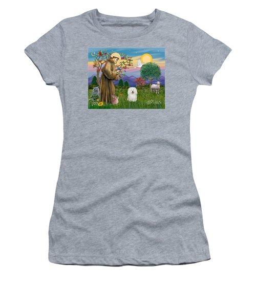 Saint Francis Blesses A Bolognese Women's T-Shirt