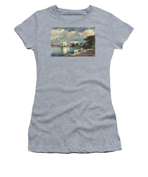 Salt Kettle Bermuda Women's T-Shirt (Junior Cut) by Winslow Homer
