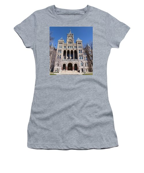 Women's T-Shirt (Junior Cut) featuring the photograph Salt Lake City - City Hall - 2 by Ely Arsha