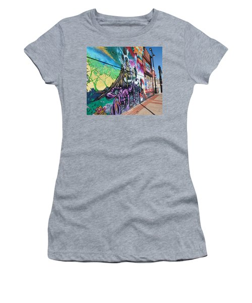 Women's T-Shirt (Junior Cut) featuring the photograph Salt Lake City - Mural 3 by Ely Arsha