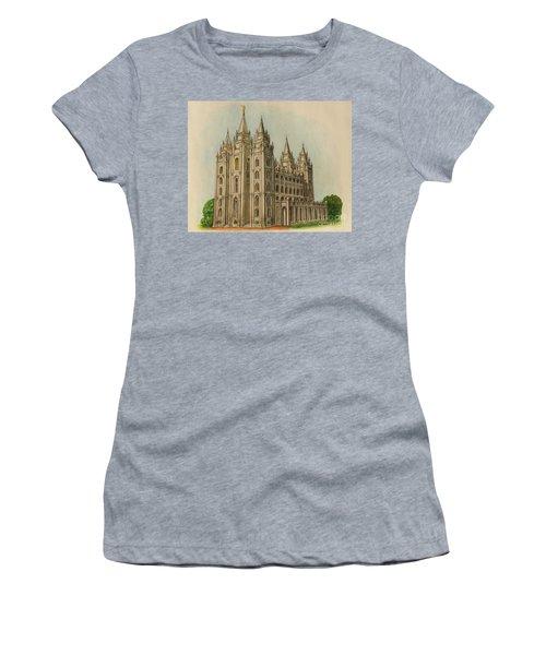 Salt Lake City Temple II Women's T-Shirt (Athletic Fit)