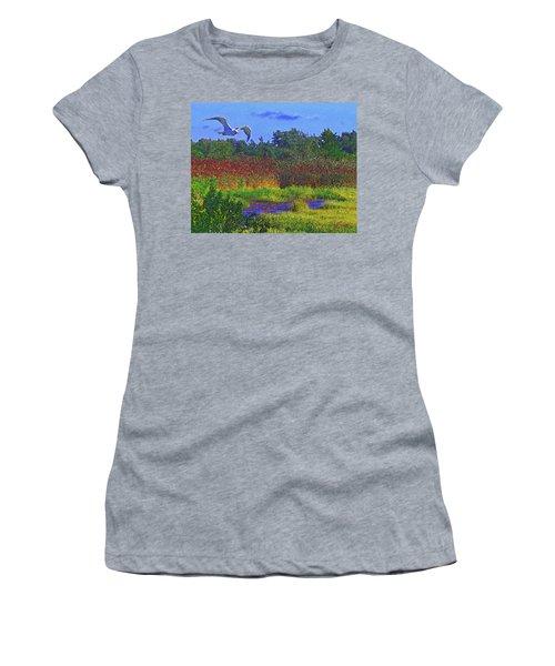 Salt Marsh Gull Women's T-Shirt