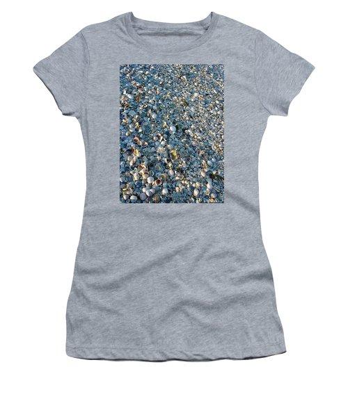 Women's T-Shirt (Junior Cut) featuring the photograph Sand Key Shells by David Nicholls