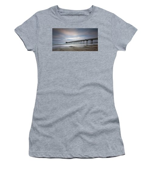 Scripps Pier Wide -lrg Print Women's T-Shirt (Athletic Fit)