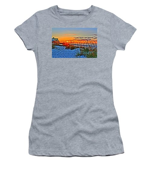Sea Oats At Sunrise Women's T-Shirt (Athletic Fit)