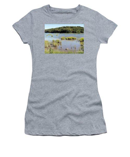 Women's T-Shirt (Junior Cut) featuring the photograph Seagrass by Ed Weidman