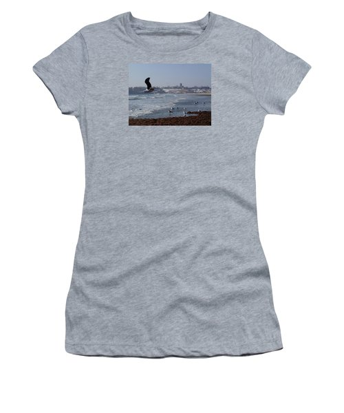 Seagull Women's T-Shirt (Junior Cut) by Robert Nickologianis