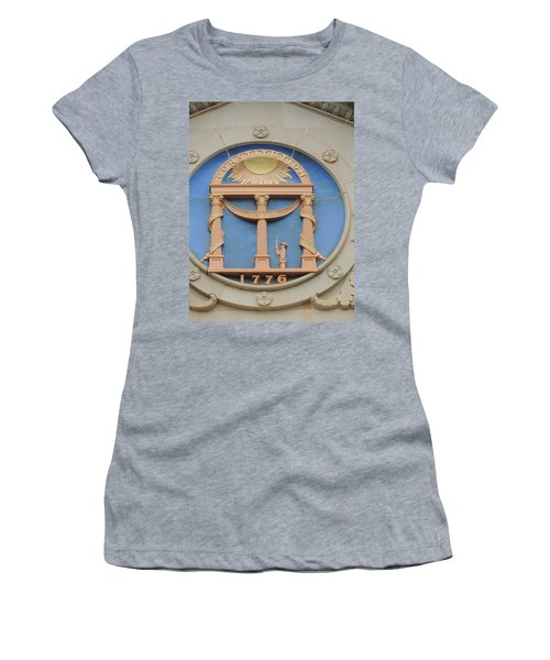 Women's T-Shirt (Junior Cut) featuring the photograph seal of Georgia by Aaron Martens