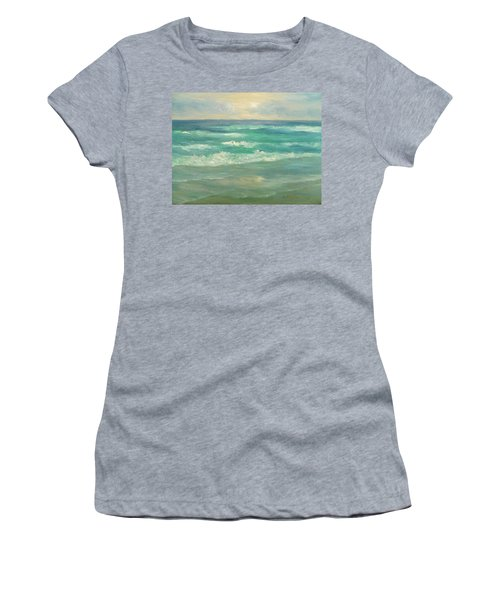 Seascape  Glowing Sunset Women's T-Shirt