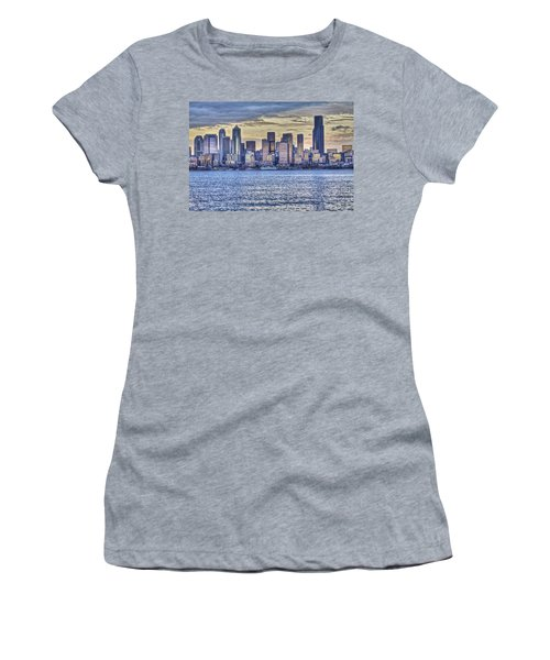 Seattle At Twilight From Alki Beach Women's T-Shirt