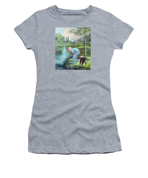 Seth And Spiky Fishing Women's T-Shirt (Junior Cut) by Donna Tucker