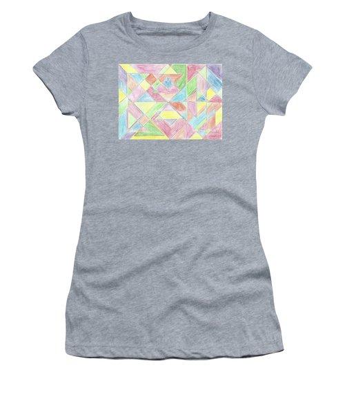 Shapes Of Colour Women's T-Shirt (Athletic Fit)