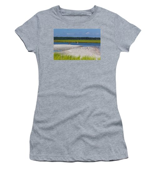 Shorebirds And Marsh Grass Women's T-Shirt