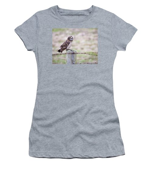 Short Eared Owl Boundary Bay Women's T-Shirt (Athletic Fit)