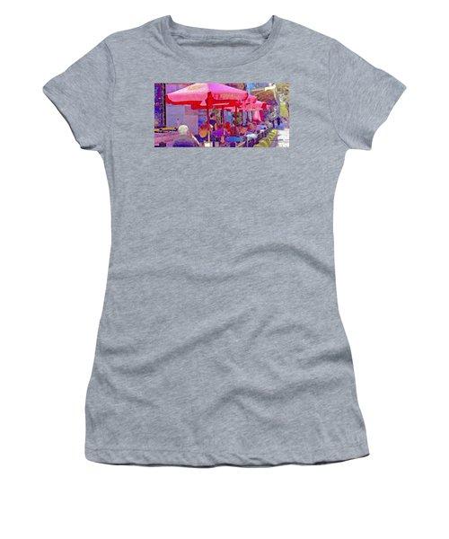 Sidewalk Cafe Digital Painting Women's T-Shirt