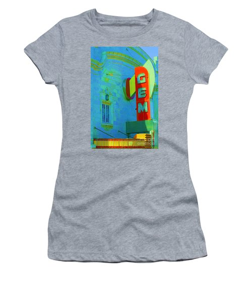 Sign - Gem Theater - Jazz District  Women's T-Shirt (Athletic Fit)
