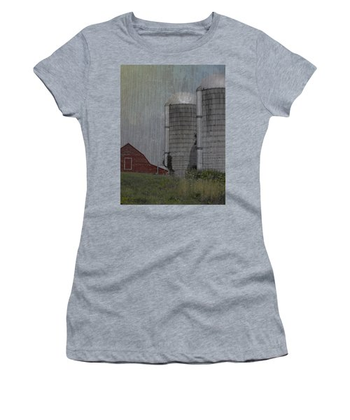 Silo And Barn Women's T-Shirt (Junior Cut) by Photographic Arts And Design Studio