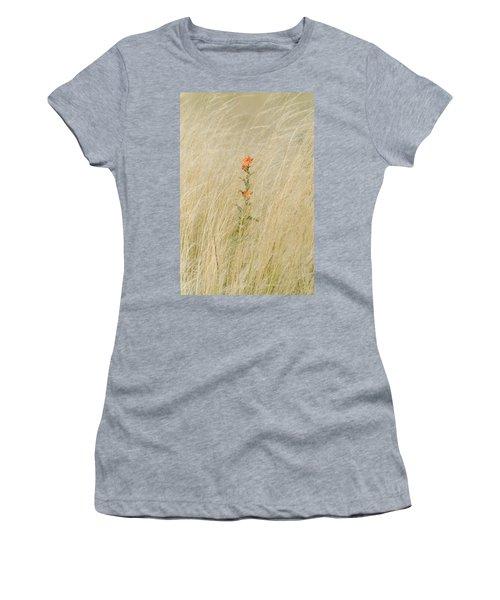 Simple Splash Of Color Women's T-Shirt (Athletic Fit)