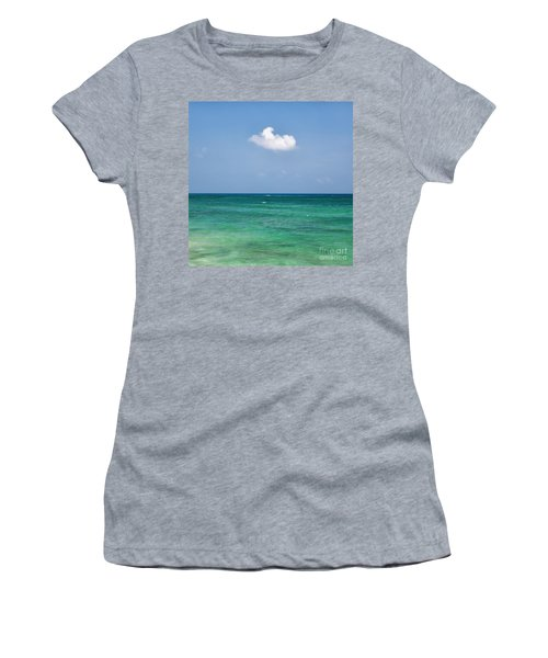Single Cloud Over The Caribbean Women's T-Shirt
