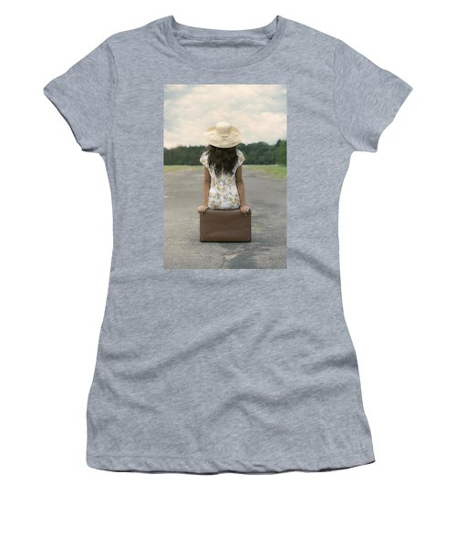 Sitting On A Suitcase Women's T-Shirt