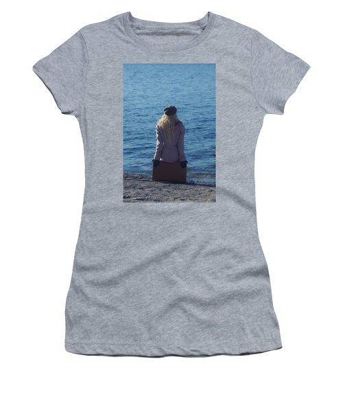 Sitting On Suitcase Women's T-Shirt